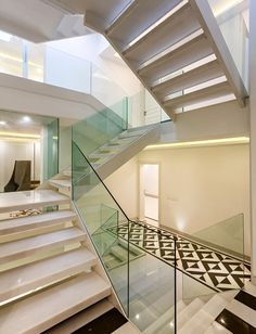 Glass And Marble Staircase   Gayatri Khanna