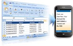 #Dynamic #Email & #SMS through Excel.An Excel Plugin with capability of sending #Dynamic #Email & SMS.  1)Top Notch Security. 2)SMS Delivery in India. 3)Used for Notifications , Reminders , etc. 4)Software integrates in Excel Itself.