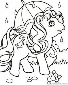 Kolorowanka dla dzieci - bajki - My little pony