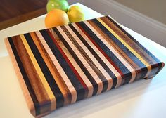 Handmade Medium Wood Cutting Board.  Just beautiful.  If you give this to me, I will make you a fancy cheese board on it.