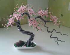 "Check out our site for even more relevant information on ""metal tree wall art decor"". It is actually a great area to read more. Wire Flowers, Beaded Flowers, Paper Flowers, Wire Crafts, Bead Crafts, Diy And Crafts, Wire Tree Sculpture, Tree Wall Decor, Art Decor"