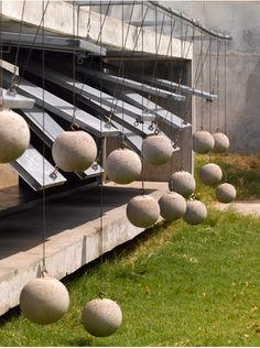 "operable screen with Concrete counterweight. Matharoo Associates, ""House With Balls."""