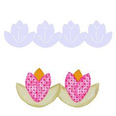 Régua Barrado Enfeites Isamara Custódio [tulipa] | Vitrine do Artesanato - VitrineDoArtesanato