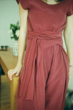Pomegranate Silk Kung Fu Jumpsuit