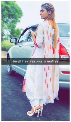 Punjabi Attitude Quotes, Punjabi Love Quotes, Cute Couple Poses, Cute Girl Poses, Classy Quotes, Girly Quotes, Punjabi Captions, Love My Parents Quotes, Caption For Girls