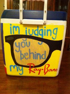 we love our coolers down South. I must admit, this one is quite creative!