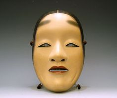 Noh mask by National Living Treasure, Nagasawa Ujiharu, Japan Japanese Mask, Turning Japanese, Art Japonais, Japanese Aesthetic, Japan Art, Japanese Culture, Headgear, Traditional Art, Cool Photos