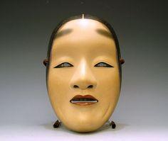 Noh mask by National Living Treasure, Nagasawa Ujiharu, Japan
