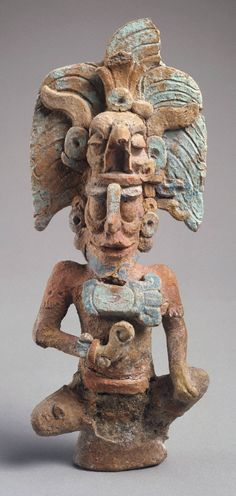Figure of an underworld deity, 600–800 AD. Late Classic, Maya