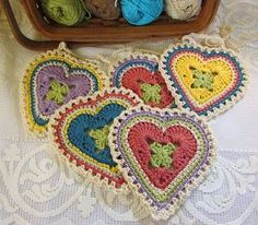 Crochet: Granny Sweet Heart Pattern.