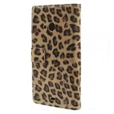 Lumia 535 leopardi puhelinlompakko.