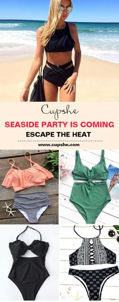 From seaside to pool, here are the essentials~ Discover various styles from one pieces to high-waisted bikinis, tanks, halters and so much more. Fresh design, super quality & free shipping. Shop them now!
