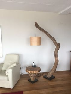 Floor lamp Arc lamp of weathered old Oak by GBHNatureArt on Etsy