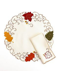 Sam Hedaya Table Linens, Sterling Forest Round Placemat and Napkin Collection