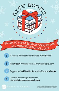 Pin to Win Your Chronicle Books Holiday Wishlist! #GiveBooks