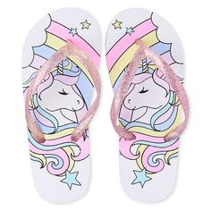 Part of our shoePLACE collection.Glitter upper made of plastic.Rainbow and unicorn graphic design at footbed.Heart treaded outsole made of rubber. Unicorn Rooms, Unicorn Eyes, Kids Jewelry Box, Unicorn Graphic, Unicorn Cookies, Cute Panda Wallpaper, Panda Wallpapers, Pink Panda, Fashion Slippers