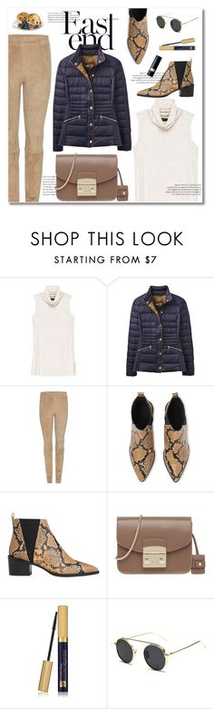 """perfect puffer jackets"" by limass ❤ liked on Polyvore featuring Bobeau, Joules, The Row, Whistles, Furla, Estée Lauder, Christian Dior and puffers"