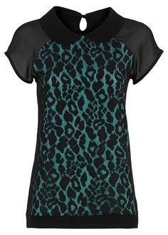 Blusa leopardo com renda estampa de leopardo preto encomendar agora na loja on-line bonprix.de  R$ 79,90 a partir de Blusa para as fashionistas! Com estampa ...