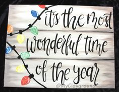Canvas Painting Holiday Christmas Winter - New Sites Christmas Paintings On Canvas, Canvas Painting Quotes, Holiday Canvas, Easy Canvas Painting, Winter Painting, Canvas Quotes, Diy Painting, How To Paint Canvas, Christmas Signs Wood