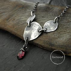 Necklace garnet by studioformood on Etsy