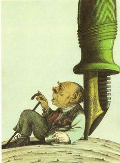 Tullio Pericoli Jorge Luis Borges  La literatura es un camino solitario en el que el compañero absoluto e ingrato es la palabra.