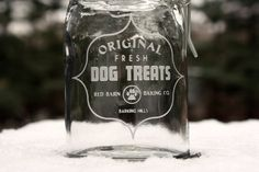 Retro inspired Dog Treat jar