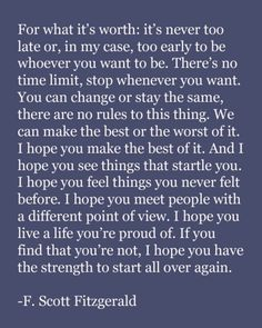 F. Scott Fitzgerald. word of wisdom, remember this, book, f scott fitzgerald, fscottfitzgerald, inspir, thought, quot, new years