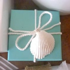 Very simple and very pretty.  Now I know what to do with all those shells I've collected over the years!
