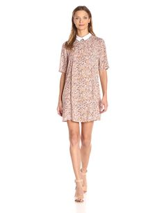 BCBGeneration Women's Collared A-Line Dress