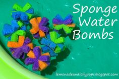 Sponge Water Bombs- Super easy to make & a GREAT alternative to water balloons for little ones! Sponge Water Bombs, Water Balloons, Baby Party, Party Gifts, Little Ones, Super Easy, Alternative, Parties, Posts