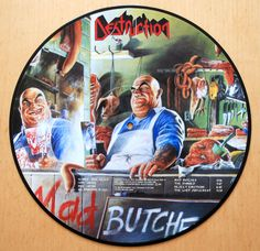 Destruction - Mad Butcher / Sentence Of Death Picture Disc Vinyl LP - 12 inch Classic Album Covers, Thrash Metal, Butches, Destruction, Vinyl Records, Sentences, Lp, Albums, Police
