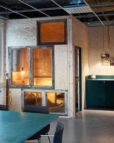white arkitekter temp office / reuse / återbruk inredning