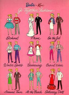 (••)                                                                       ✤1966 Barbie and Ken Cut-Outs