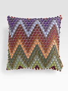 Missoni Naciria Embroidered Zigzag Pillow