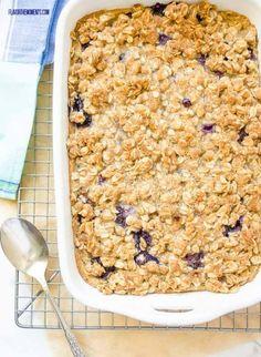 Overnight Blueberry Baked Oatmeal Crisp