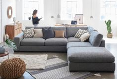 Buy houghton from the Next UK online shop Corner Sofa Uk, Corner Sofa Living Room, Corner Sofa Design, Room Corner, Bedroom Cupboard Designs, Living Room Designs, Apartment Living, Apartment Ideas, Apartment Therapy
