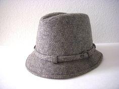 c738719c Vintage 60s Grey Wool Fedora Hat by KNOX Grey Mens Fedora Hipster Hat, Grey  Hat