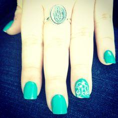 Monogram nails