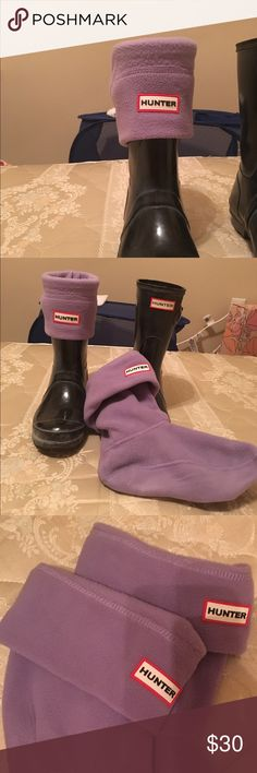 Short Hunter rain boots socks Great for cold, rainy weather. Only worn once. In perfect condition! Lavender color. BOOTS NOT INCLUDED. Hunter Boots Shoes Winter & Rain Boots