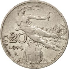 Italy, Vittorio Emanuele III, 20 Centesimi, 1909, Rome, EF(40-45), Nickel, KM:44