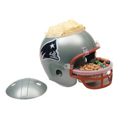 Our plastic New England Patriots Snack Helmet features a large container in the helmet and a smaller tray in the facemask. Fill New England Patriots Snack Helmet with treats! Patriots Fans, Nfl New England Patriots, Patriots Football, Football Fans, Football Helmets, Patriots Logo, Football Season, Patriots Gifts, Football Rooms