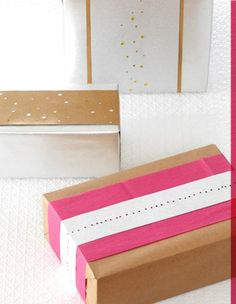 use the hole punch to add interest to packages