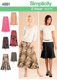 My favorite quick skirt pattern - soooo flattering and so easy. Simplicity : 4881 - meke