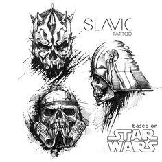 "Polubienia: 386, komentarze: 3 – SLAVIC tattoo (@slavic_tattoo) na Instagramie: ""More projects on FB :) #tattoo #tattoos #starwars #starwarstattoo #skull #skulltattoo #skullart…"""