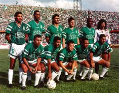 Atletico Nacional of Colombia team group in Everton Fc, Club, 1990s, Football, Group, World Championship, Colombia, Champs, Athlete