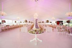 A beautiful Unique Cake Installation. Marquee Wedding, Unique Cakes, Chandelier, Ceiling Lights, Table Decorations, Lighting, Pictures, Inspiration, Weddings