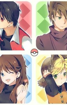 Red Y, Red Blue Green, Pokemon Especial, Pokemon Red Blue, Pokemon Manga, Pokemon People, Pokemon Pictures, Good Manga, Romance