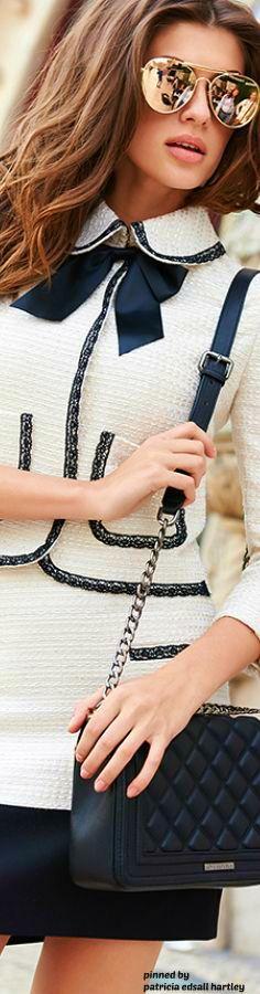 #Chanel suit.