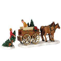 Lemax - Christmas Tree Wagon, Set Of 2