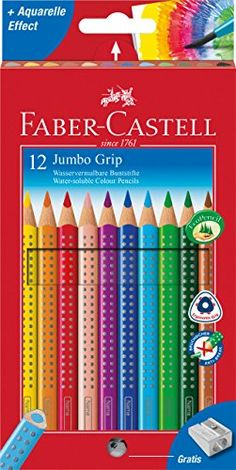 Faber-Castell Jumbo Grip Colour Pencil (Pack of 12) Faber... https://www.amazon.co.uk/dp/B0007OECLC/ref=cm_sw_r_pi_dp_x_knDSyb0FY34RC